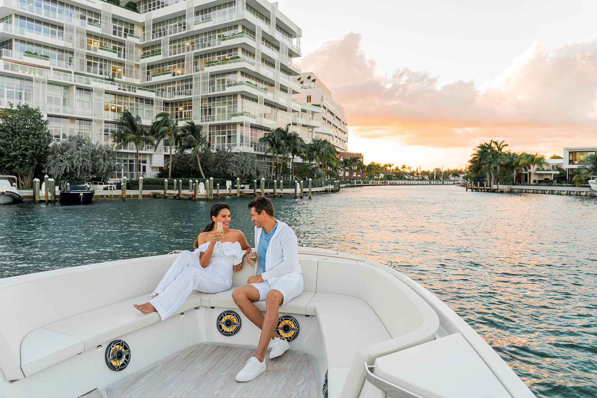 Ritz Carlton Residences Miami Beach Private Captained Day Yacht